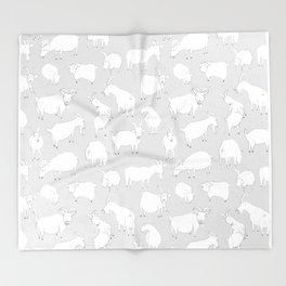 Charity fundraiser - Grey Goats Throw Blanket