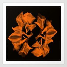 Fire sunflower Art Print