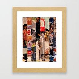 Histoire simplifiée, Scotch tape collage, 2011 Framed Art Print