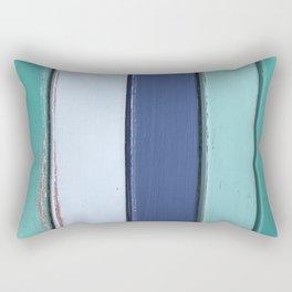 Cape Cod Shutters: Vintage Blue Wooden Boards Rectangular Pillow