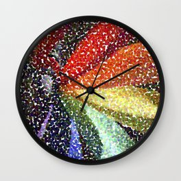 Pinwheel Seurat I Wall Clock