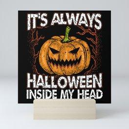 Halloween Horror Pumpkin Scary Monster Zombie Mini Art Print