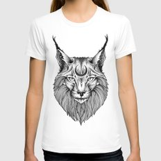 LINX White SMALL Womens Fitted Tee