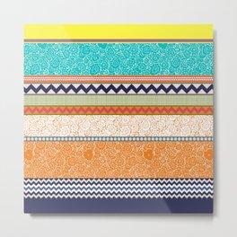 seaview beauty stripe Metal Print