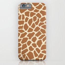 Giraffe Animal Print Pattern iPhone Case