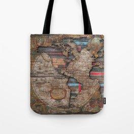 Distress World Tote Bag
