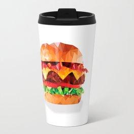 Geometric Bacon Cheeseburger Travel Mug