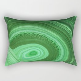 Green Agate Rectangular Pillow