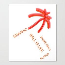 Graphic Basketball Statement Canvas Print