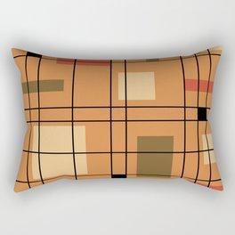 1950's Abstract Art Burnt Orange Rectangular Pillow