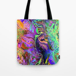 Reflective Colors Abstract Tote Bag