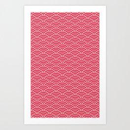 Japanese Sakura Koinobori Fish Scale Reversed Art Print