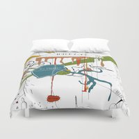 naked Duvet Covers featuring Naked Lunch by Sven Jaeckel