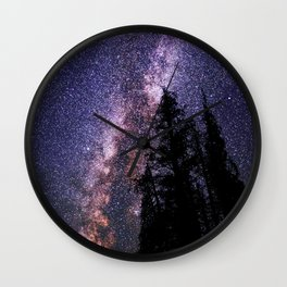 Celestial Starlight in the Forest Near  Lake Irene Colorado by OLena Art - brand Wall Clock