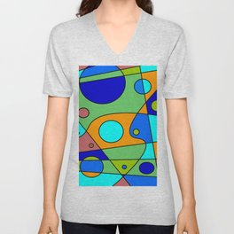 Abstract #72 Unisex V-Neck