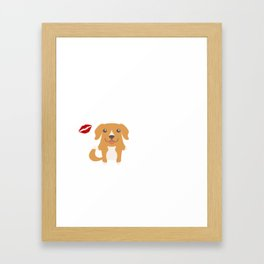 I Kissed A Toller And I Liked It Cute Dog Kiss Gift Idea Framed Art Print