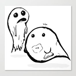 2Spooky Ghosties Canvas Print
