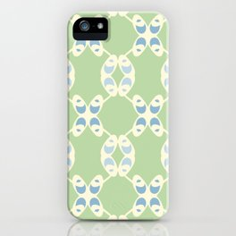 Criss Cross Loops Pattern iPhone Case