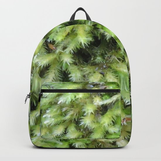 TEXTURES -- Moss on a Tree Trunk Backpack