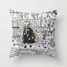 After Hours at the Christmas Market Throw Pillow