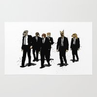reservoir dogs Area & Throw Rugs featuring Reservoir Dawgs by David Procter