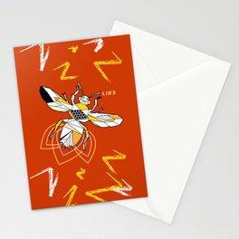 Geometric bzz bzz Stationery Cards