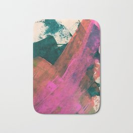 Expand [2]: a colorful, minimal abstract piece in pinks, green, and blue Bath Mat