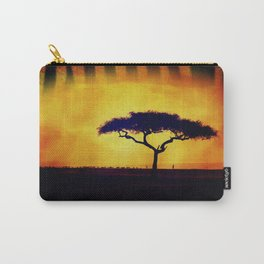African Farmers Sunset Zebra Carry-All Pouch
