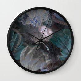 moody flowers Wall Clock