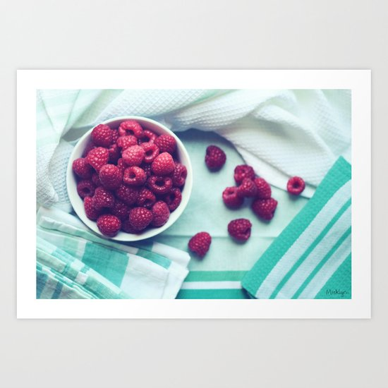 Pretty Goodness - Raspberry Still Life Art Print