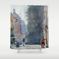 rome Shower Curtains featuring Rome by Andrey Esionov