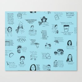 Gilmore Girls Quotes in Blue Canvas Print