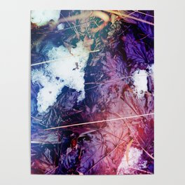 Snowy Leaves Poster