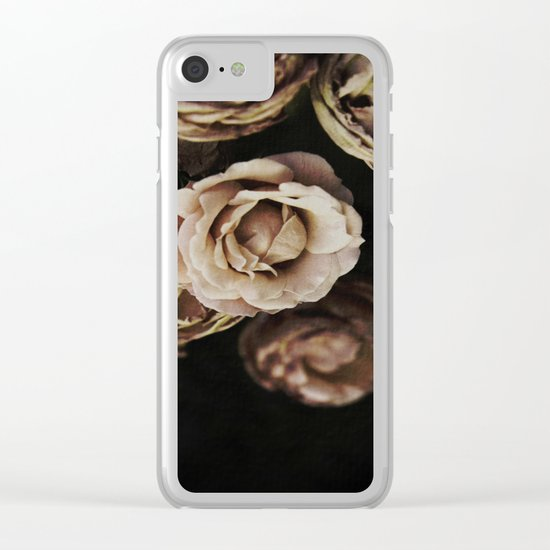 Autumn Roses Clear iPhone Case