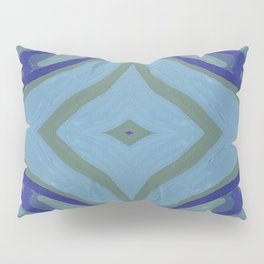 Blue Wave Nautical Medallion Pillow Sham