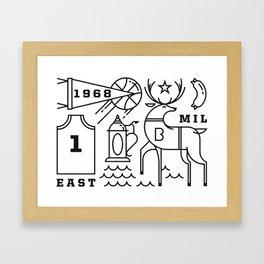 Deers & Beers Framed Art Print