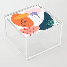 abstract dripping Acrylic Box