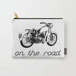 On the road - Vintage motorcycle Carry-All Pouch