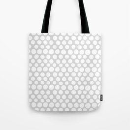 White Dots on Light Gray Tote Bag