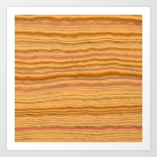 Sandstone Sediment Art Print