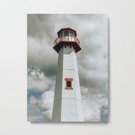 The Lighthouse in Saint Ignace Metal Print
