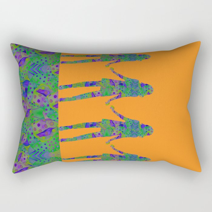 """Be yourself (Pop Fantasy Colorful Woman)"" Rectangular Pillow"