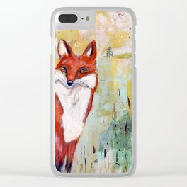 Franz the Fox Clear iPhone Case