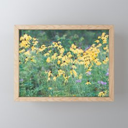 In a tangle - wildflower nature photography Framed Mini Art Print
