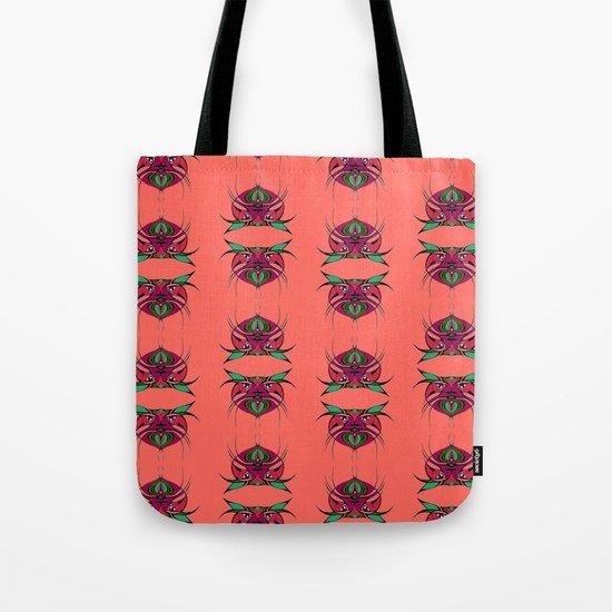 Tribal Cat Faces 2 Tote Bag