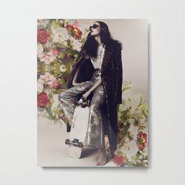 The flowers in her hair Metal Print