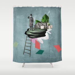 Surreal Collage Shower Curtain
