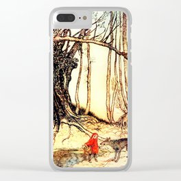 Litte Red Riding Hood Clear iPhone Case