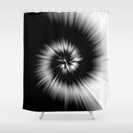 TIE DYE #1 (Black & White) Shower Curtain
