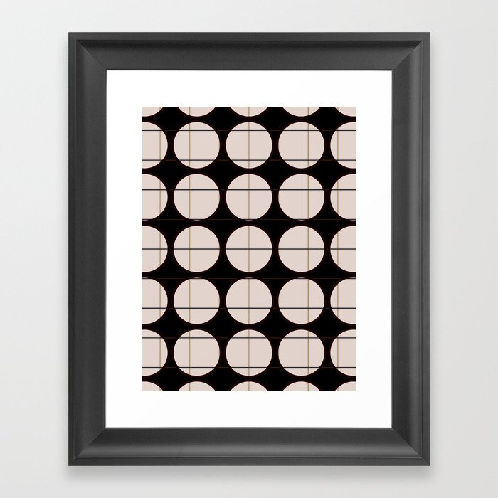 circle - grid Gerahmter Kunstdruck